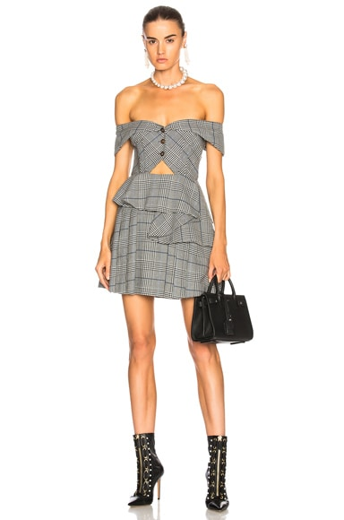 Cut Out Check Mini Dress