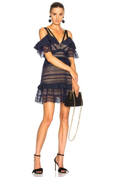 Striped Paneled Lace Dress