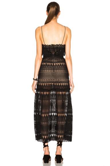 Full Teardrop Guipere Patterned Dress