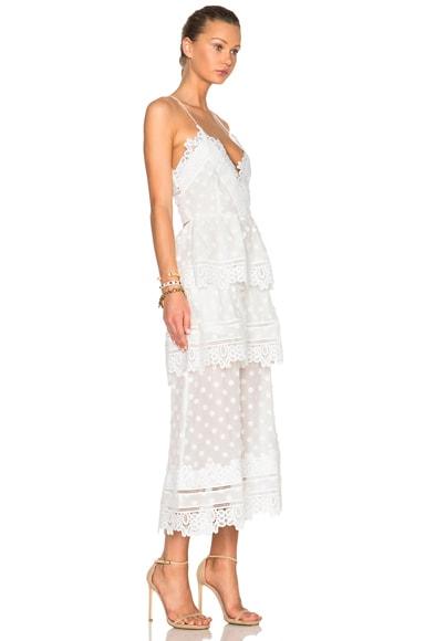 Ivy Lace Trim Midi Dress