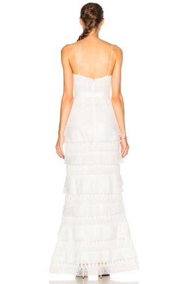Penelope Tiered Teardrop Lace Dress