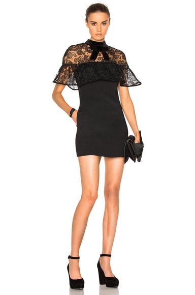 Line Lace Mini Dress