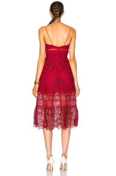 Floral Blush Midi Dress