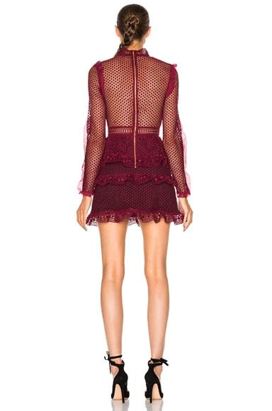 Dot Mesh Tiered Mini Dress
