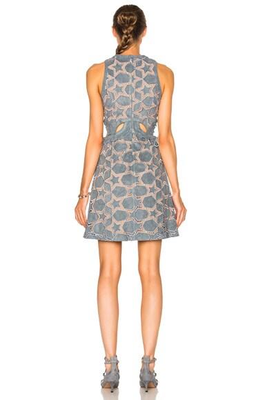 Cutwork Star Mini Dress