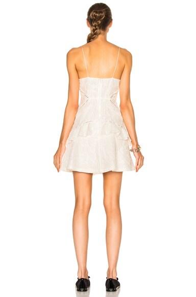White Jacquard Mini Dress