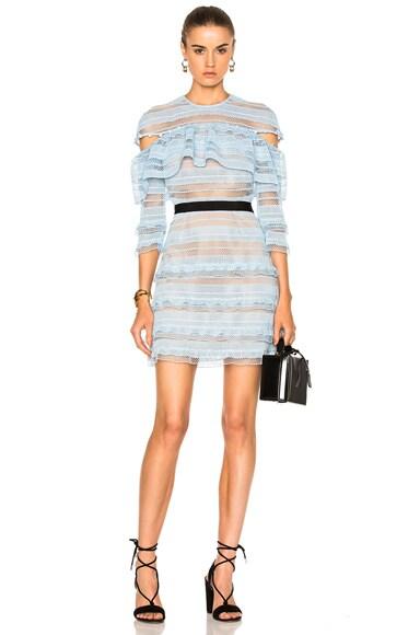 Stripe Grid Mini Dress