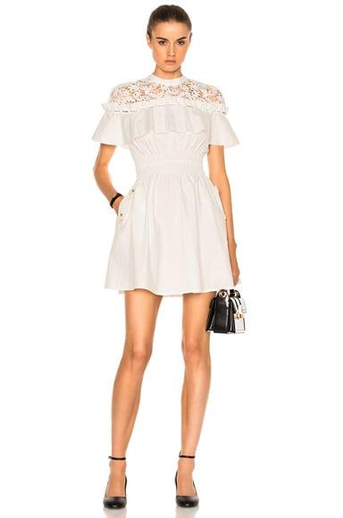 self-portrait Hudson Mini Dress in White