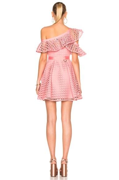 Lace Frill Mini Dress