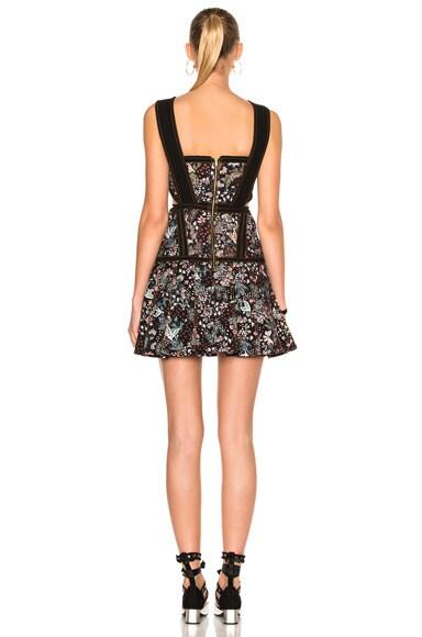 Floral Jacquard Mini Dress