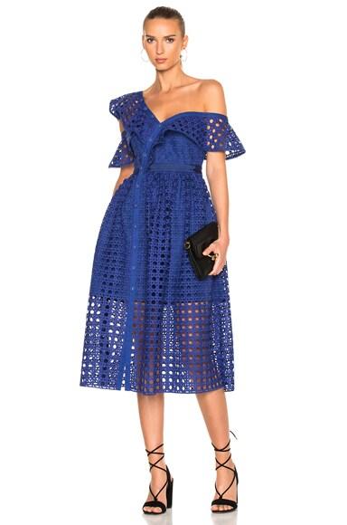 Guipure Frill Dress