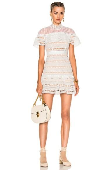 Yoke Frill Mini Dress