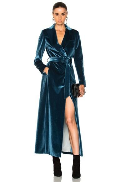 Draped Velvet Coat