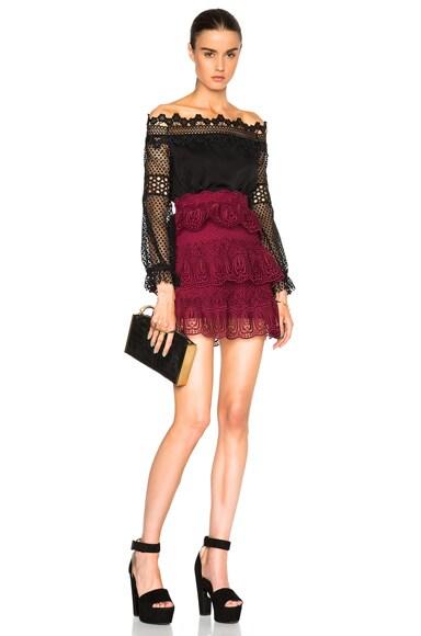 Scallop Edged Mini Skirt