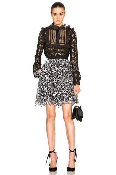 Daisy Guipere Gathered Mini Skirt