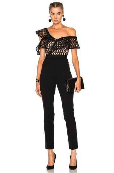 Lace Frill Jumpsuit self-portrait