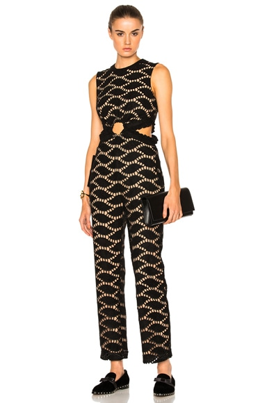 Cutwork Embroidered Jumpsuit self-portrait