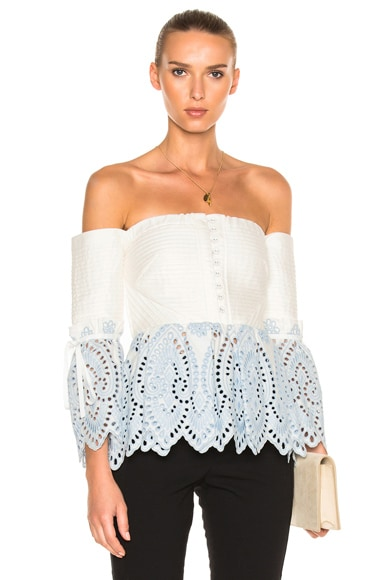 Off Shoulder Broderie Top