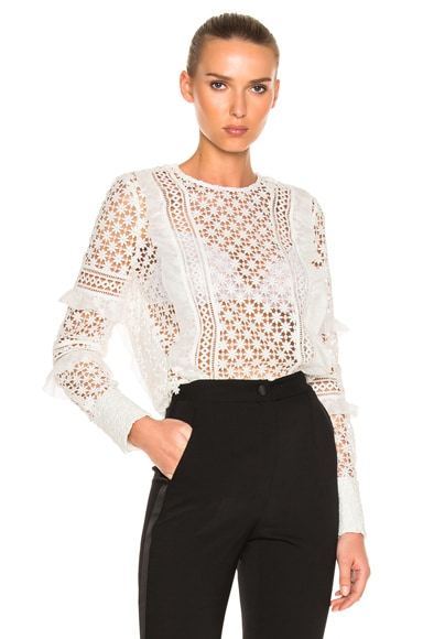 Daisy Frill Detail Top