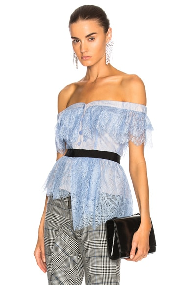 Off Shoulder Fine Lace Top