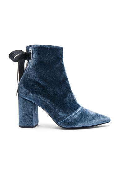 x Robert Clergerie Velvet Karlit Boots
