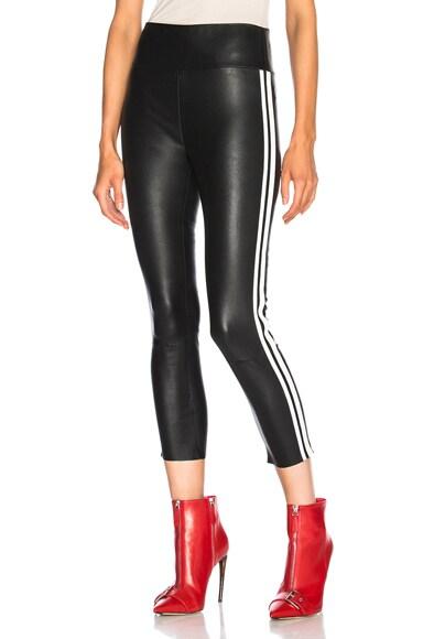 High Waist Capri Leather Legging