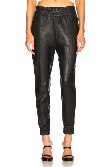 High Waist Leather Jogger