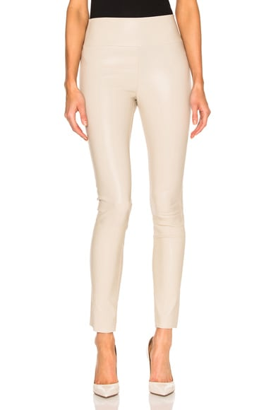 SPRWMN High Waist Leather Ankle Legging in Nude