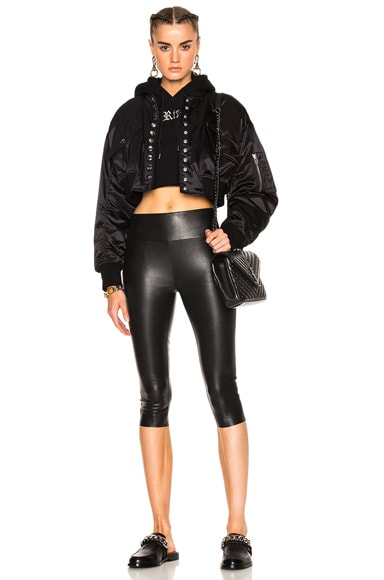 High Waist Crop Leather Legging