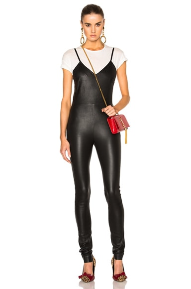 SPRWMN Leather Catsuit in Black