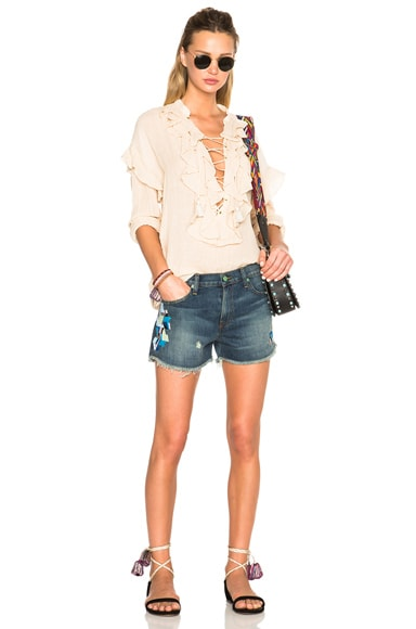 Embroidered Mini Shorts
