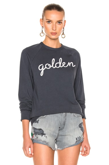 Sandrine Rose Golden Long Sleeve Tee in Charcoal