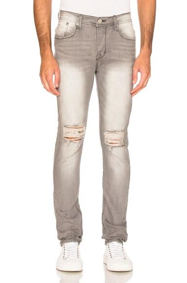 Stampd Essential Knee Split Denim in Grey