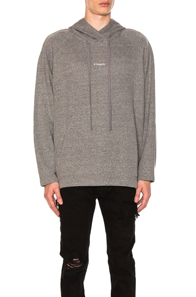 Stampd Terry Raglan Sweater in Heather Grey