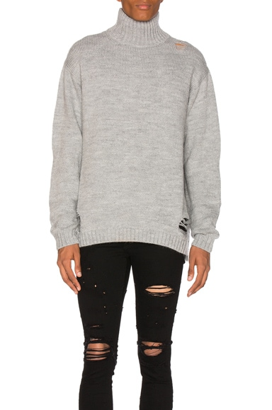 Stampd Port Sweater in Heather Grey