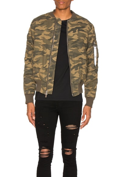 Stampd Washed Bomber in Camo
