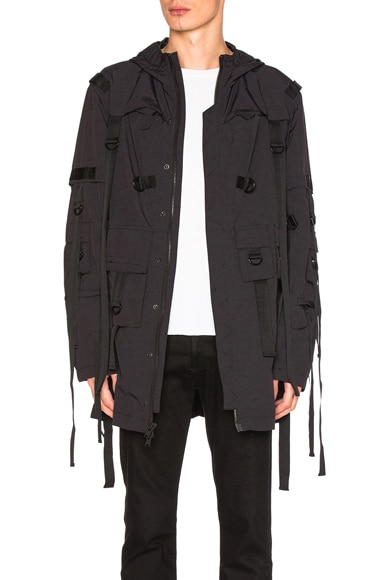 Stampd Flex Strapped Trench in Black