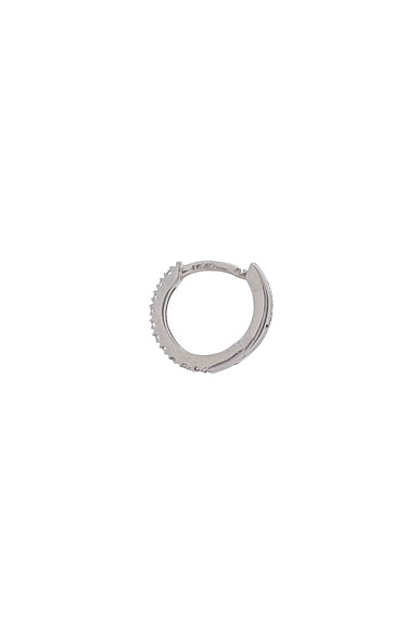 Tiny Hoop Paved Single Earring