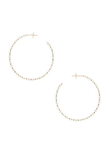Stone Paris Yasmine Hoop Earrings in Yellow Gold
