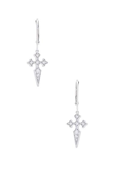 Stone Paris Blood Diamond Earrings in White Gold