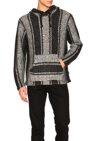 Stussy Chunky Knit Drug Rug Sweater in Grey