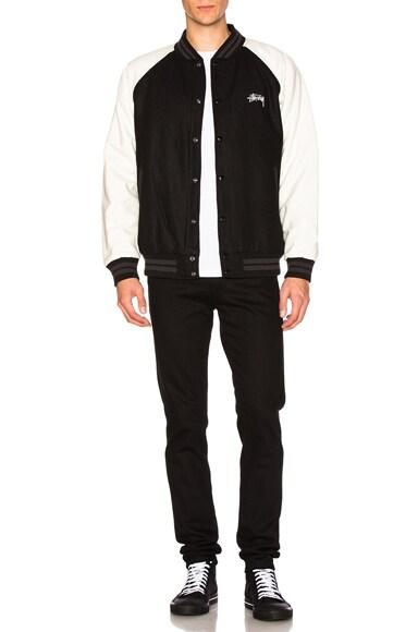 Two Tone Wool Varsity Jacket