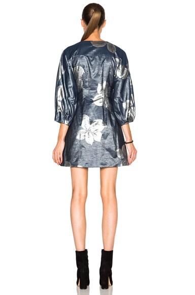 Pleats Cinched Short Dress