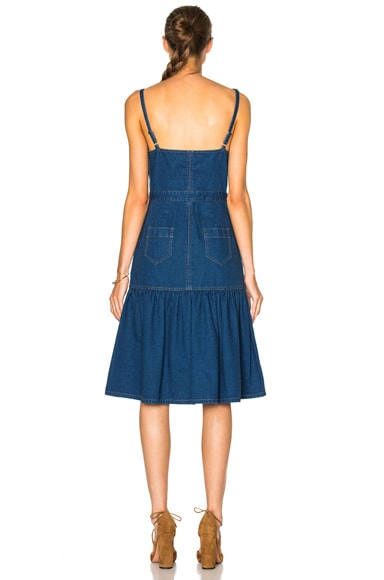 Spaghetti Strap Long Denim Dress