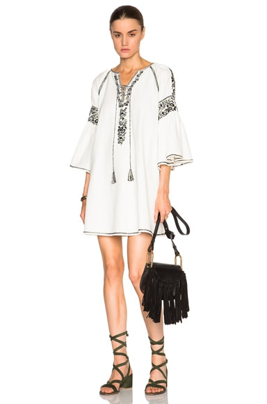 SUNO FWRD Exclusive Embroidered Tunic in Ivory