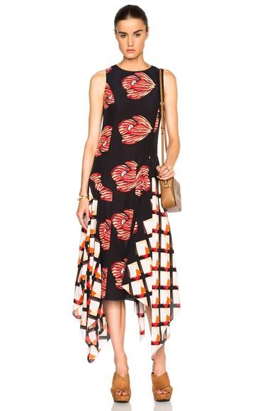 SUNO FWRD Exclusive Long Asymmetrical Dress in Black