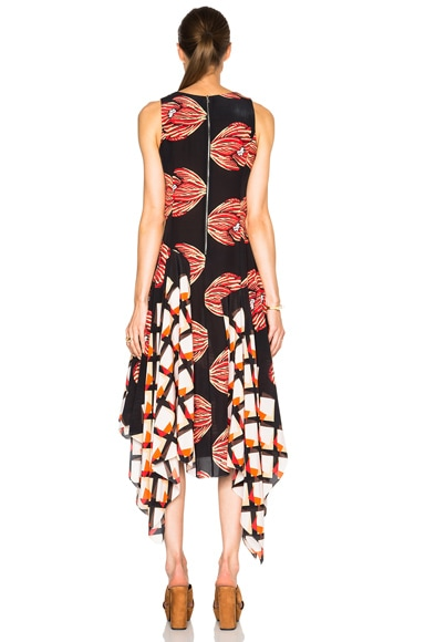 FWRD Exclusive Long Asymmetrical Dress
