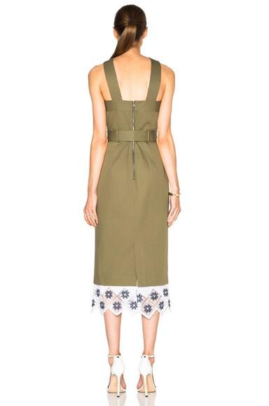 Cross Halter Pencil Dress