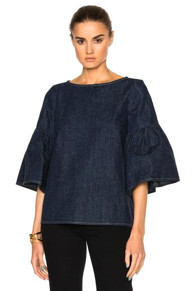 Shirred Sleeve Top