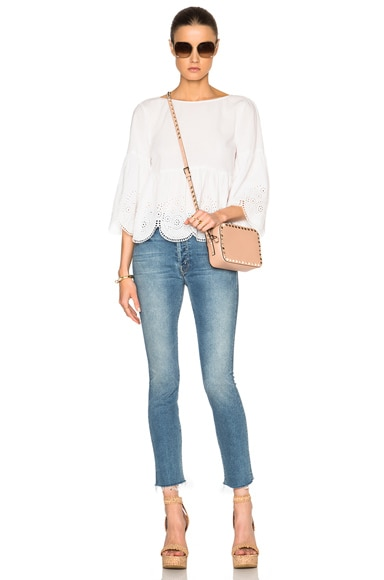 Eyelet Lace Cropped Top